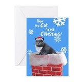 Unique Santa cat Greeting Cards (Pk of 20)
