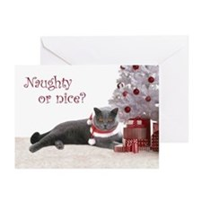 Cat Under Christmas Tree Greeting Cards (Pk of 20)