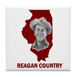 Reagan Illinois Country Tile Coaster