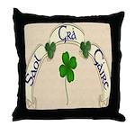 Live, Love, Laugh (Gaelic) Throw Pillow