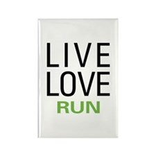 Live Love Run Rectangle Magnet (10 pack)