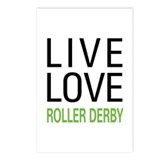 Live Love Roller Derby Postcards (Package of 8)