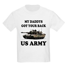 My Daddys Got Your Back Army Tank Kids T-Shirt