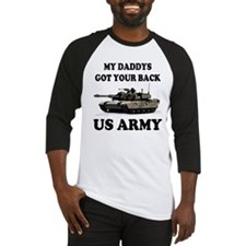 My Daddys Got Your Back Army Tank Baseball Jersey