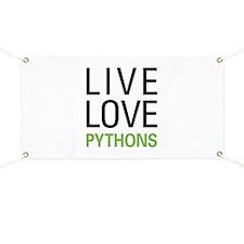 Live Love Pythons Banner