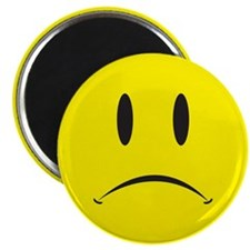 "Unhappy Face 2.25"" Magnet (100 pack)"