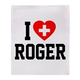 I Love Roger Throw Blanket