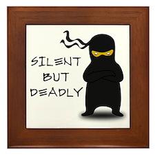 Silent but Deadly Ninja Framed Tile