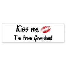 Kiss Me: Greenland Bumper Bumper Sticker