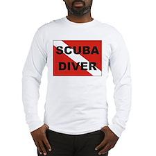 """Scuba Diver"" flag Long Sleeve T-Shirt"