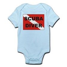 """""""Scuba Diver"""" flag Infant Creeper"""
