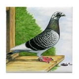 Racing Homer Pigeon Tile Coaster