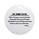 Zombie Prayer Ornament (Round)