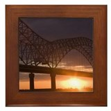 Arkansas-Tennessee Bridge at Memphis Framed Tile