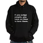 Quote on Judging People (Front) Hoodie (dark)
