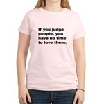Quote on Judging People (Front) Women's Light T-Sh