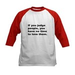 Quote on Judging People (Front) Kids Baseball Jers