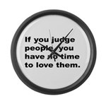 Quote on Judging People Large Wall Clock