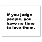 Quote on Judging People Small Poster