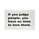 Quote on Judging People Rectangle Magnet (10 pack)