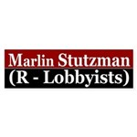 Marlin Stutzman (R-Lobbyists) bumper sticker