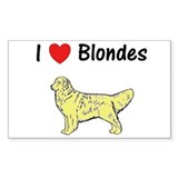 Love Blondes Decal