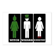 Oz Bathroom Signs Postcards (Package of 8)