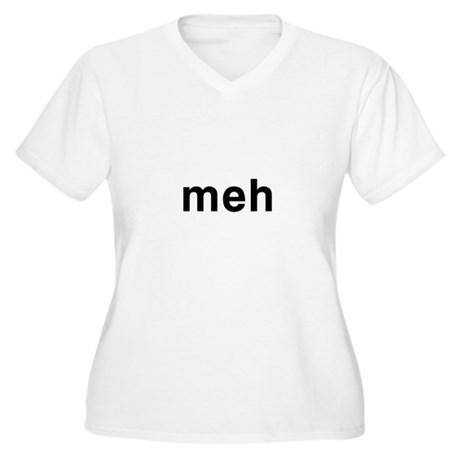 Meh Plus Size V-Neck Shirt