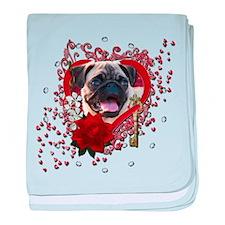 Valentines - Key to My Heart baby blanket