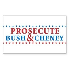 Prosecute Bush&Cheney Decal