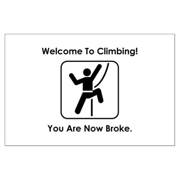 Welcome To Climbing! You Are Large Poster