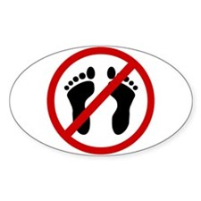 Anti Bare Feet Decal