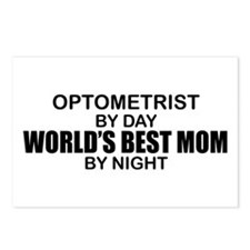 World's Best Mom - OPTOMETRIST Postcards (Package