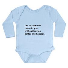 (Front) Long Sleeve Infant Bodysuit