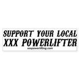 xxx powerlifting apparel Car Sticker