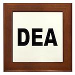 DEA Drug Enforcement Administration Framed Tile