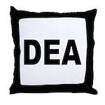 DEA Drug Enforcement Administration Throw Pillow