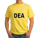 DEA Drug Enforcement Administration Yellow T-Shirt