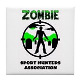 Zombie Sport Hunters Associat Tile Coaster