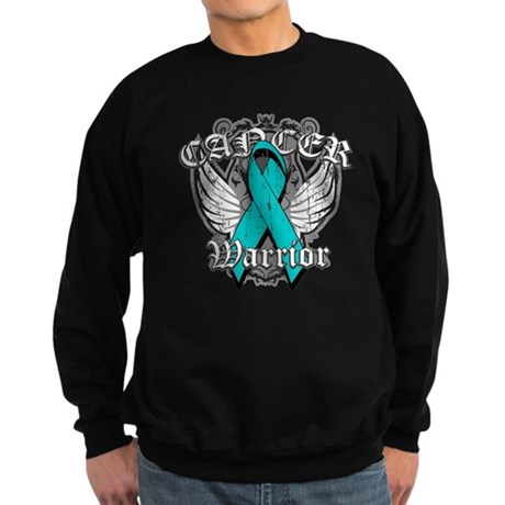 Ovarian Cancer Warrior Sweatshirt (dark)