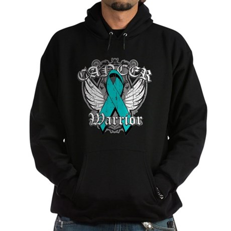 Ovarian Cancer Warrior Hoodie (dark)