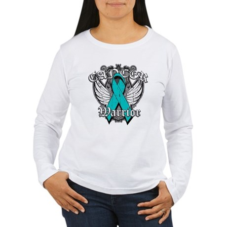 Ovarian Cancer Warrior Women's Long Sleeve T-Shirt