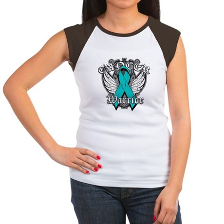 Ovarian Cancer Warrior Women's Cap Sleeve T-Shirt