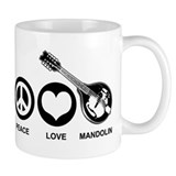 Peace Love Mandolin Mug