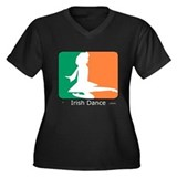 Irish Dance Tricolor Girl Women's Plus Size V-Neck