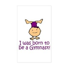 Born to be a Gymnast Madison Rectangle Sticker