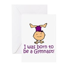Born to be a Gymnast Madison Greeting Cards (Packa