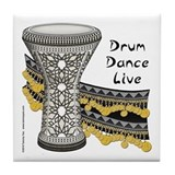 Drum, Dance, Live Tile Coaster