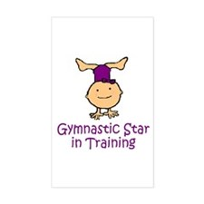 Gymnastic Star in Training Madison Sticker (Rectan