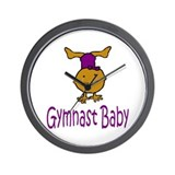 Gymnast Baby Hannah Wall Clock